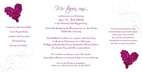 Hochzeitseinladungen Violett by Altarfalz Hochzeitseinladung Rosenbl 228 Tter Violett