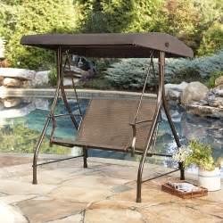 kmart patio swing garden oasis harrison 2 seat sling swing