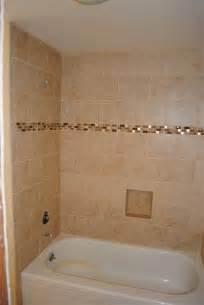 Bathroom Tile Strips Mosaic Strip In The Tub Shower Wall Tile Bathroom