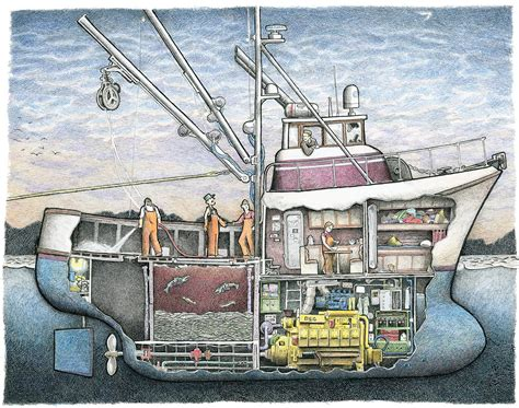 electric boat kings highway seiner no 3 11 quot x 14 quot the scow
