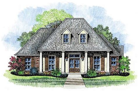 louisiana style home plans four pillar front porch 14167kb 1st floor master suite