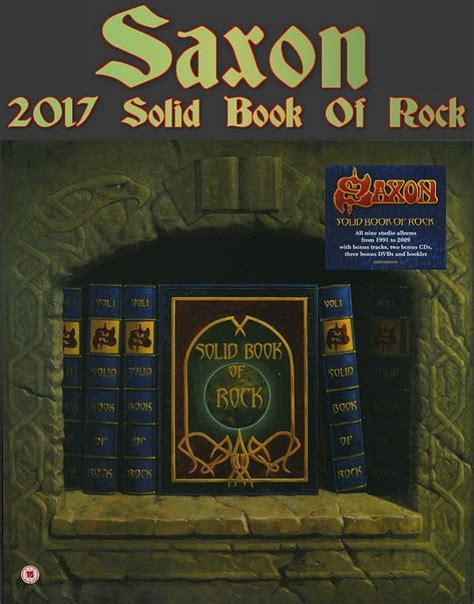 rock solid books saxon solid book of rock deluxe boxset 2017