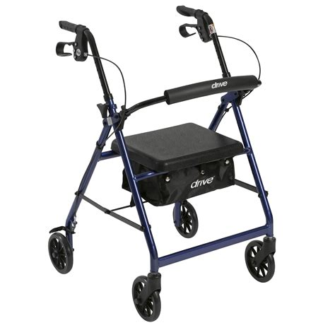 rs4 r726bl rollator with fold up and removable back