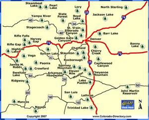 state parks in colorado map colorado parks wildlife denver area central