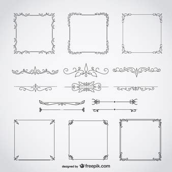 set of arabesque pattern frame border arabesque vectors photos and psd files free download
