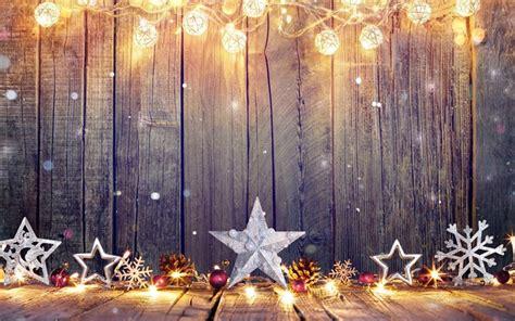 herunterladen hintergrundbild  weihnachtsschmuck sterne happy  year holz hintergrund