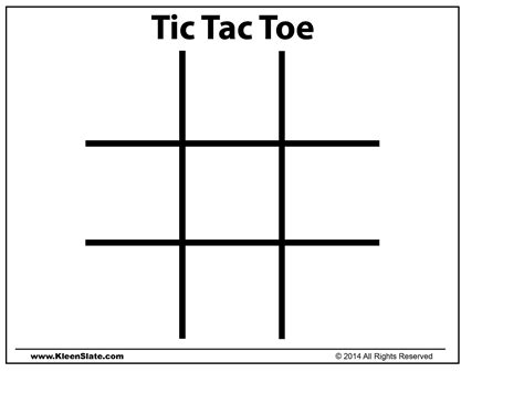 Template Tic Tac Toe Template Tic Tac Toe Template Free Tic Tac Toe Template