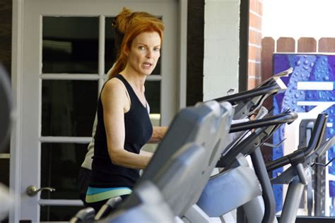 marcia cross workout routine marcia cross at the gym zimbio