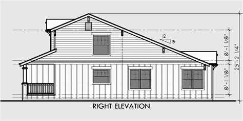 Side View House Plans by Craftsman Duplex House Plans Bungalow Duplex House Plans