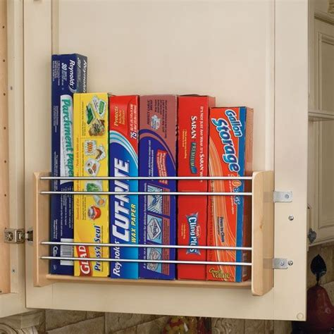 cabinet door kitchen wrap organizer vertical foil rack for 15 quot cabinet maple 4wfr 15 1 by