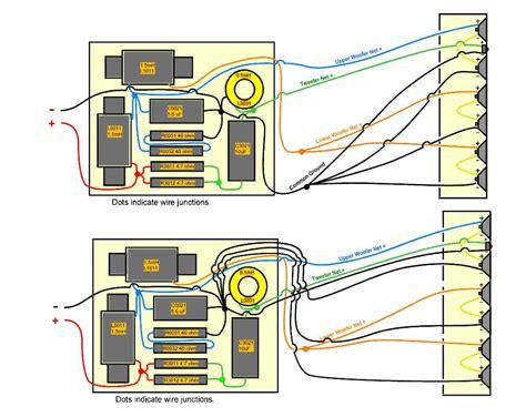 speaker crossover wiring diagram speaker design works