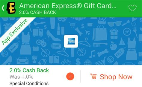 Amex E Gift Card - 2 cash back on american express gift cards through the ebates app frequent miler