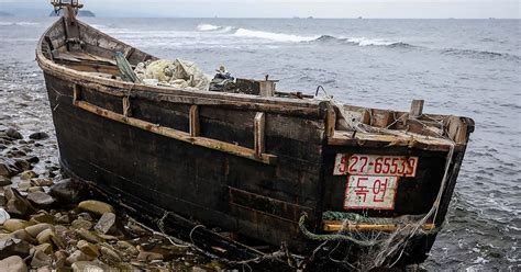 fishing boat load crossword ghost fishing boats from north korea wash up along coast