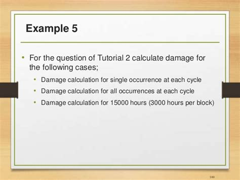 fatigue tutorial questions fatigue analysis of structures aerospace application