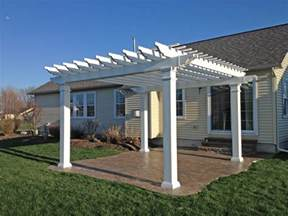 Vinyl Pergola by Pergola Archives Poly Enterprises