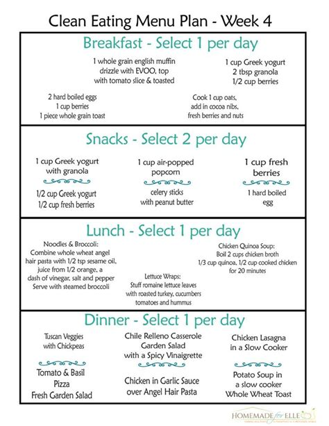 printable clean eating plan 25 best ideas about clean eating meal plan on pinterest