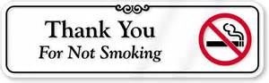 thank you for not sign designer wall sign sku