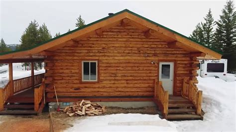 Amish Meadow Lark Cottages Medium Log Cabin Meadowlark Rancher