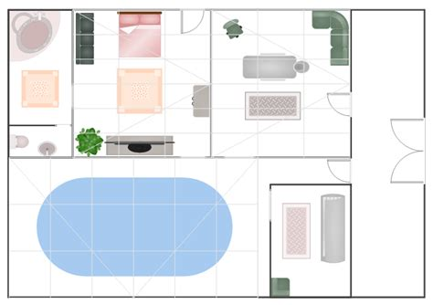 floor plan of spa how to draw a floor plan for spa in conceptdraw pro spa