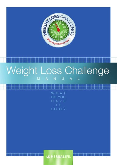 herbalife weight loss challenge manual