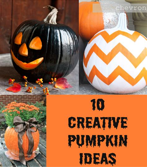 creative pumpkin ideas