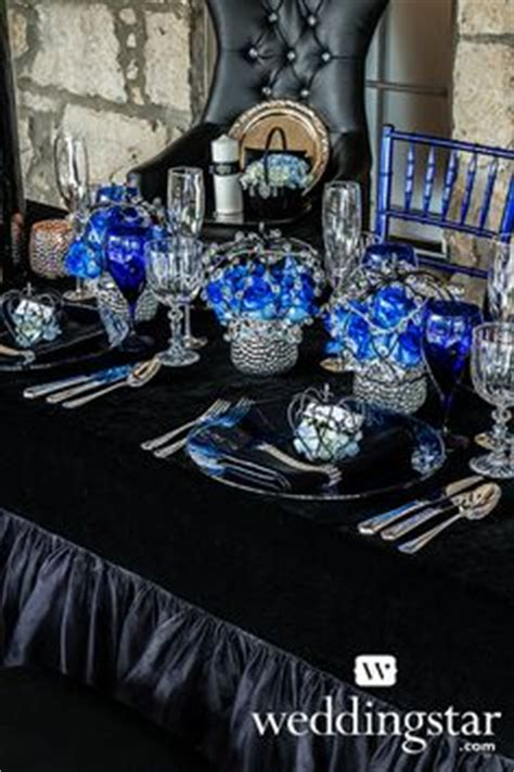 black blue and silver table settings planning on pinterest royal blue weddings royal blue