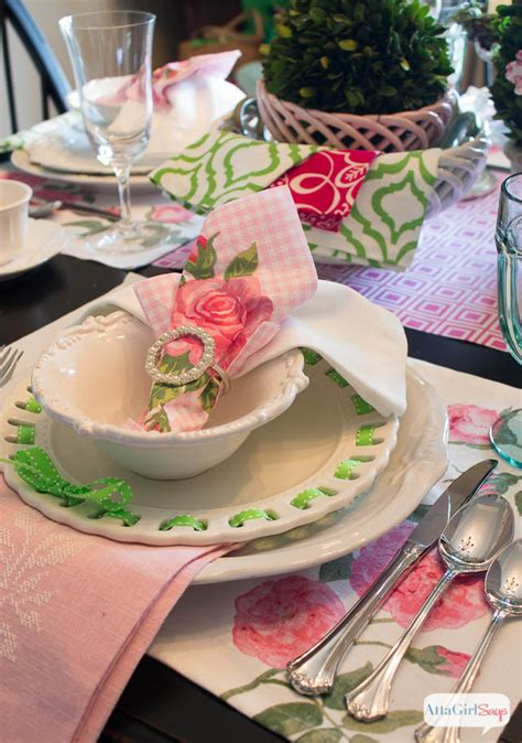 lunch table setting ideas table setting ideas pink green luncheon atta