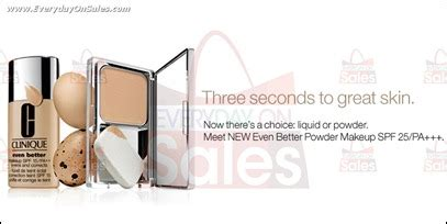 Free Makeup Giveaways Sles - clinique free even better powder makeup sles giveaway everydayonsales com