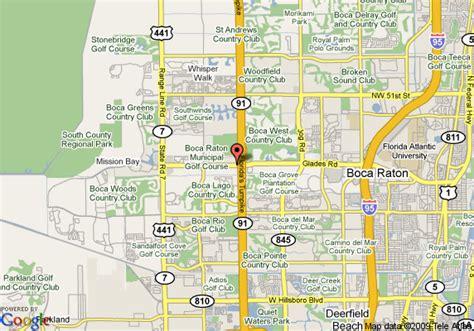 boca raton map map of inn west boca raton boca raton