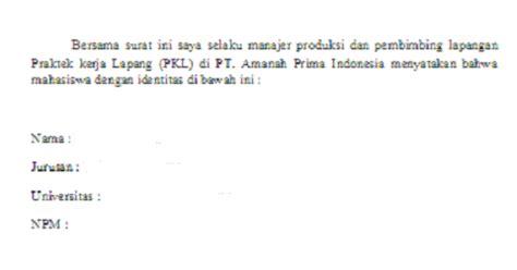 contoh surat keterangan selesai pkl koleksi dokumentasi