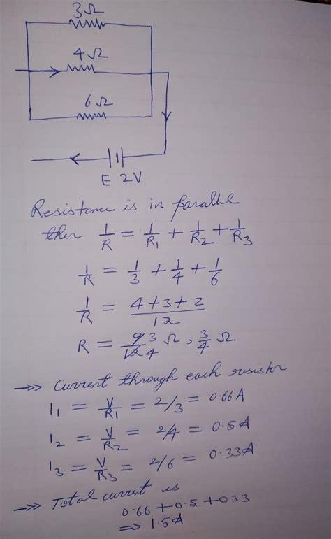resistors   ohm  ohm   ohm  connected