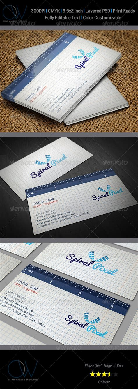 ruler business card template ruler business card by owpictures graphicriver