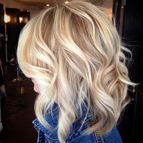 beachy waves for shoulder length hair 21 cute medium length bob hairstyles shoulder length
