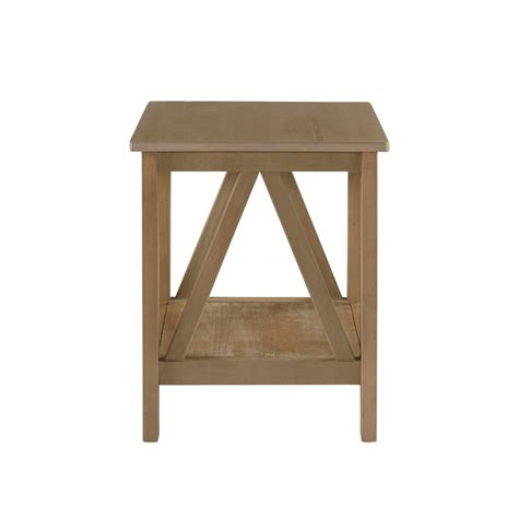 rustic grey end tables end table in rustic gray 86153gry01u