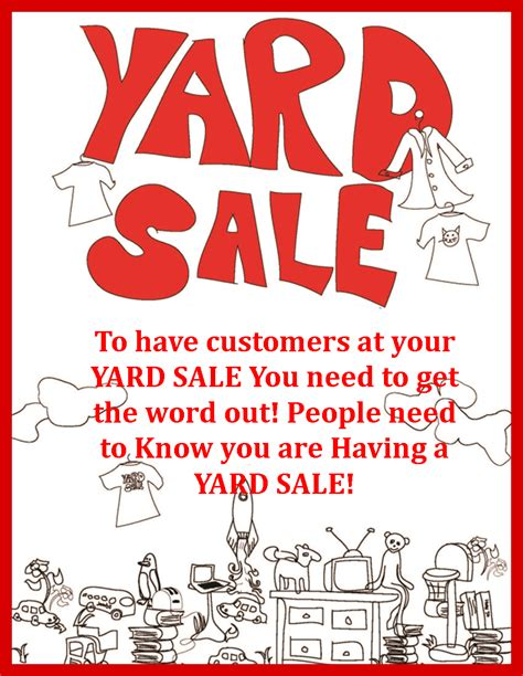 Where To Advertise Garage Sales yard sale signs cook enjoy