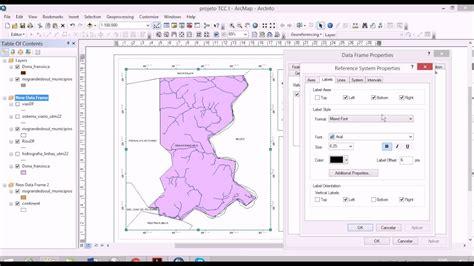 layout de mapa no arcgis inserir grade de coordenadas em mapa com o arcgis youtube