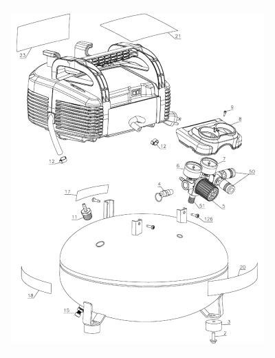 porter cable c2002 type 9 parts air compressor parts
