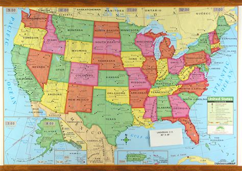 map usa showiwng states simple us map