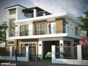 Designing A House by 2 Storey House Design With Roof Deck Ideas Design A
