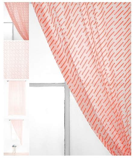 coral and white curtains home decor pinterest
