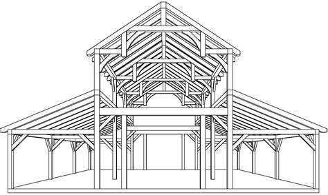 barn blueprints equipment barn in tx with hemlock frame and curved braces
