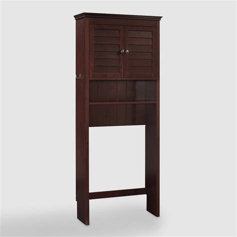 espresso wood maryella bathroom space saver cabinet