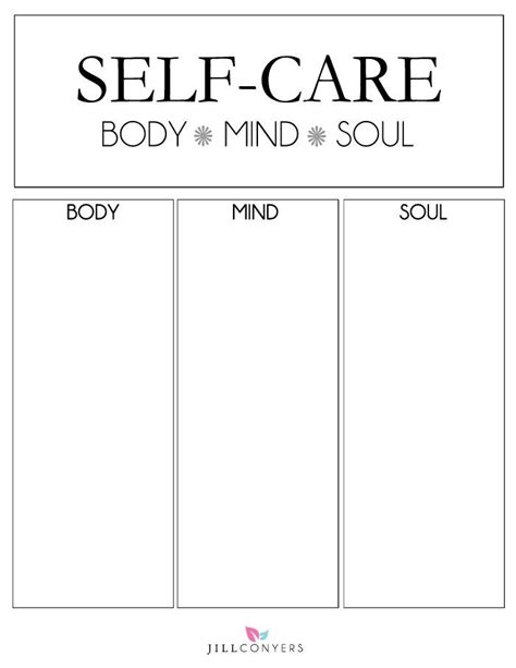 self care plan template of attraction money psychology