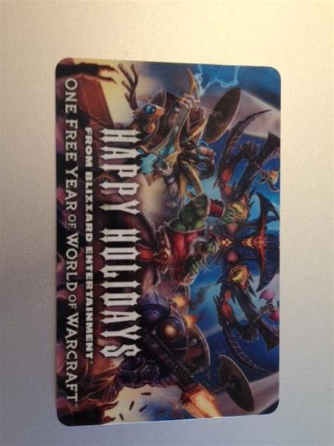 Warcraft Gift Card - i have a quot one free year of world of warcraft quot gift card first person to pm me with a