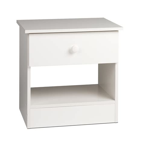 White One Drawer Nightstand Edenvale 1 Drawer Nightstand White Whd 2020 1