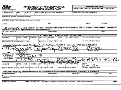 travers smith application for a contract vehicle registration of a rod or replica car