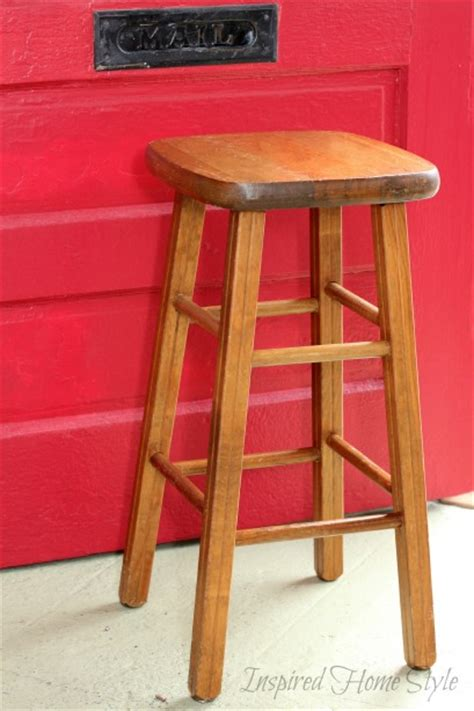 upside down bar stool how to turn a stool into a diy trash can inspired home style