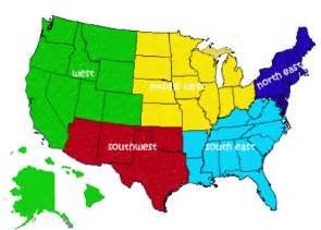 map of the 5 regions of the united states free classifieds for usa