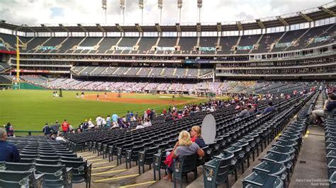 section 117 progressive field field level down the line progressive field baseball