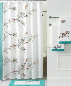 Lenox Shower Curtains Lenox Simply Bath Accessories Chirp Shower Curtain